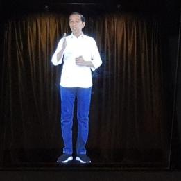 Jokowi-Amin yang Pertama Kali Gunakan Hologram di Kampanye