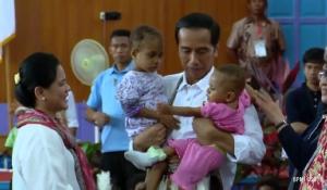 Datang ke Asmat, Jokowi Dicintai