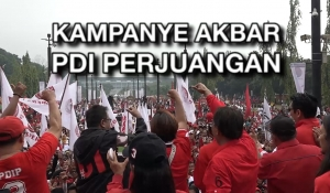 Kampanye Akbar PDI Perjuangan di Jakarta