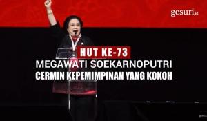 HUT ke-73 Megawati, Cermin Kepemimpinan yang Kokoh