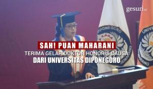 Puan Maharani Terima Gelar Doktor Honoris Causa Undip