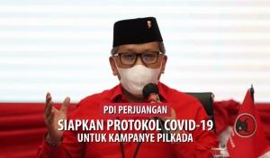 PDI Perjuangan Siapkan Protokol Covid Untuk Kampanye Pilkada