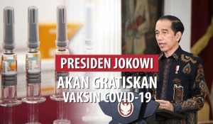 Presiden Jokowi Akan Gratiskan Vaksin COVID-19