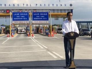 Presiden Jokowi Resmikan Ruas Tol Gempol-Pasuruan
