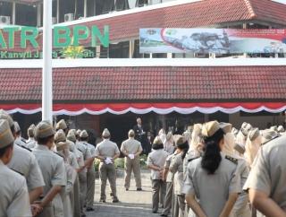 Ganjar Harap ATR BPN Kanwil Jateng Jadi Contoh Nasional