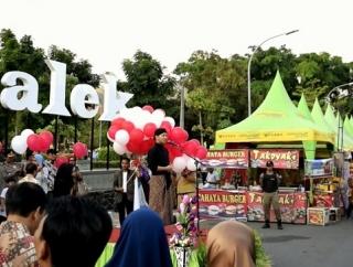 Ramaikan HUT Trenggalek Ke-825, Pasar Rakyat Resmi Dibuka