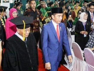 Presiden Hadiri Pengukuhan Asep Jadi Guru Besar UINSA