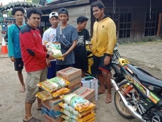 Baguna Banjar Salurkan Bantuan Pada Korban Banjir