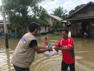 Baguna Kalsel Bergerak Bantu Korban Banjir Tanah Bumbu