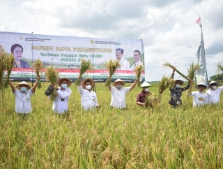 Panen Raya di Lampung Selatan, Sudin Ingin Petani Mandiri