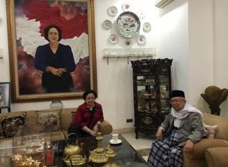 Usai Ditetapkan Cawapres, KH Ma'ruf Amin Sambangi Megawati