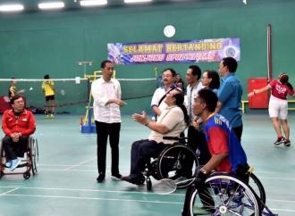 Tinjau Pelatnas Para Games, Jokowi Pastikan Bonus Tetap Sama