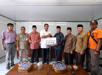 Wali Kota Sigit Serahkan Bantuan untuk Korban Gempa NTB