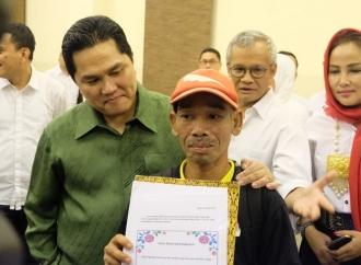 Erick Sambut Pengontel dari Jepara, Pendukung Jokowi-Ma'ruf