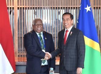 Presiden Jokowi Bertemu PM Kepulauan Salomon