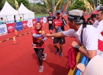 Keseruan Ganjar Saat Mengikuti Borobudur Marathon 2018