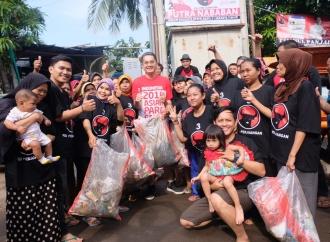 Kerja Bakti Cinta Lingkungan PDI Perjuangan
