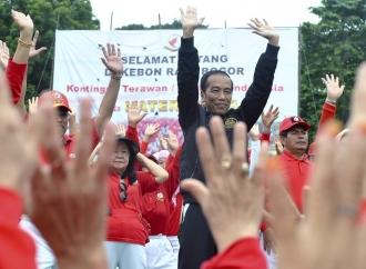 Presiden Senam Tera Bersama 20 Ribu Peserta di Bogor