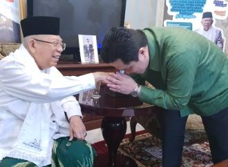 Sinergikan Kampanye, Erick Sambangi Kiai Ma'ruf