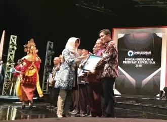 Pemprov Sulut Raih Penghargaan Ombudsman RI