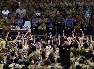 Presiden Jokowi Temui Ribuan Perangkat Desa