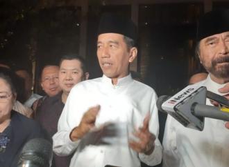 Jokowi Bahas Evaluasi Kampanye dengan Ketum Parpol