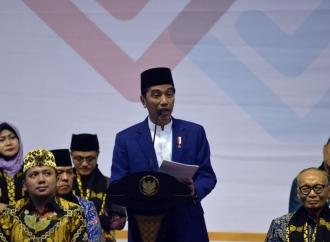 Presiden Sampaikan Pesan Persatuan pada Jemaah Dzikir Akbar