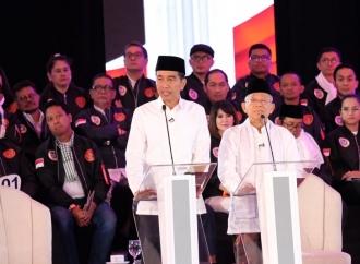 Jokowi–Ma'ruf Siap Debat Tanpa Kisi-kisi