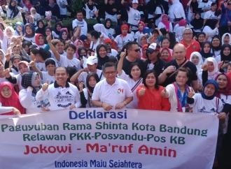 Ibu-ibu Rama Shinta Deklarasi Dukung Jokowi-KH Ma'ruf