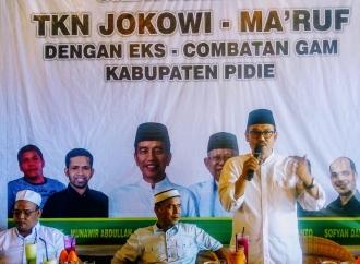 Eks Kombatan GAM Ikut Mendukung Jokowi Maruf Amin