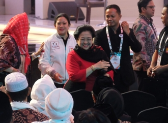 Ibu Megawati Hadiri Debat Cawapres Kiai Maruf Amin