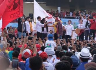 Simulasi Pencoblosan, Jokowi Ajak Pilih 01