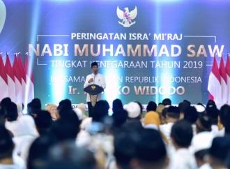 Ini Pesan Kerukunan Jokowi dalam Peringatan Isra Mi'raj