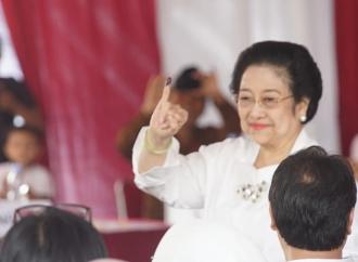 Ibu Megawati Soekarnoputri Nyoblos di Kebagusan Jaksel