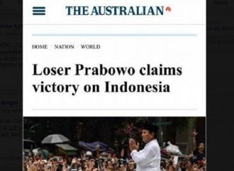 Media Australia Cap Prabowo Pecundang, Klaim Menang Pilpres