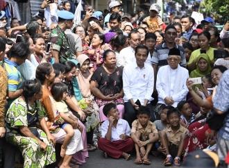 Tim Cakra 19 Papua Sampaikan Selamat ke Jokowi