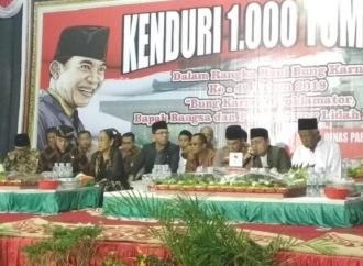 Haul Bung Karno Ke-49, Ribuan Warga Nikmati 1.000 Tumpeng