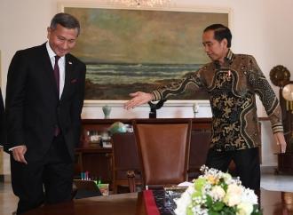Presiden Jokowi Terima Menlu Singapura di Istana Bogor