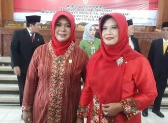 Unik, Ibu dan Anak Ini Sah Jadi Anggota DPRD Klaten