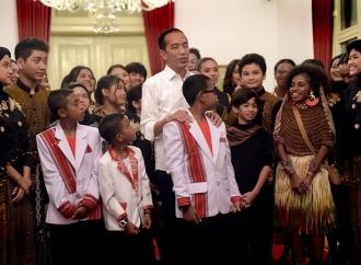 Jokowi Menyapa Talenta-Talenta Muda di Istana