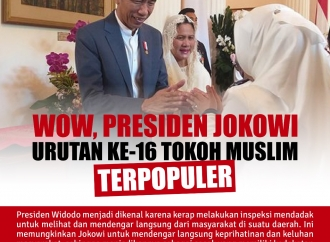 Jokowi Urutan ke-16 The Wolrd 's 500 Most Influental Muslim