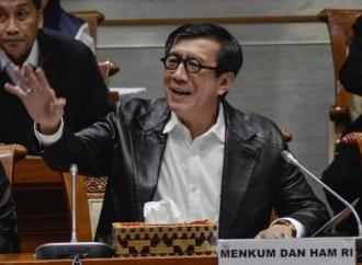 Yasonna Tegaskan Kritik Kebijakan Presiden Tidak Pidana