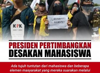 Jokowi Pertimbangkan Tuntutan Dari Mahasiswa