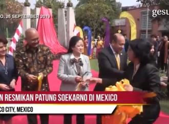 Puan Resmikan Patung Soekarno di Mexico