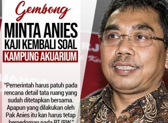 Gembong Minta Anies Kaji Kembali Soal Kampung Akuarium