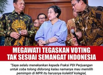 Megawati Tegaskan Voting Tak Sesuai Semangat Indonesia