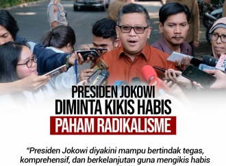 Hasto Yakin Jokowi Mampu Mengikis Habis Paham Radikalisme