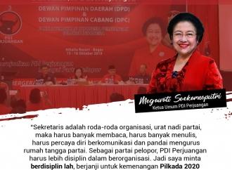 Arahan Ketua Umum kepada Peserta Sekolah Sekretaris Partai