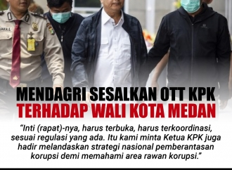 Mendagri Sesalkan OTT KPK terhadap Wali Kota Medan