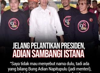Jelang Pelantikan Presiden, Adian Napitupulu Sambangi Istana